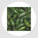 Flamin' Hot Green Jalepeno Peppers Art Stickers