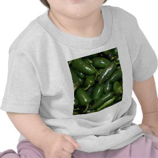 Flamin' Hot Green Jalepeno Peppers Art Tshirts