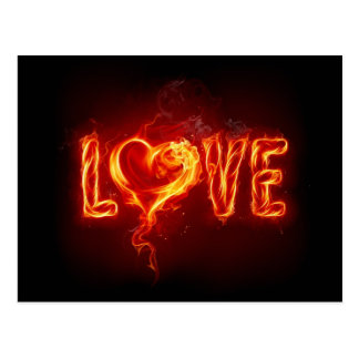 Flamin' Love Postcard