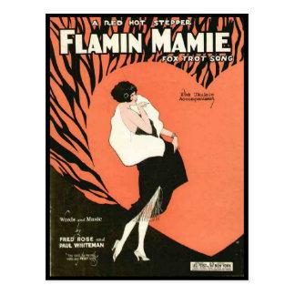 Flamin Mamie Flapper Postcard