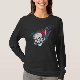 Flamin' Skull (drk) T-Shirt