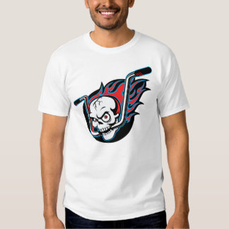 Flamin' Skull (wht) T-Shirt