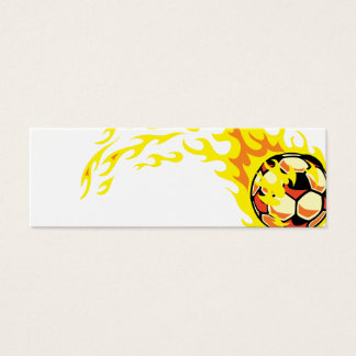Flamin' Soccer Ball Mini Business Card