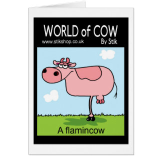 Flamincow Greeting Card