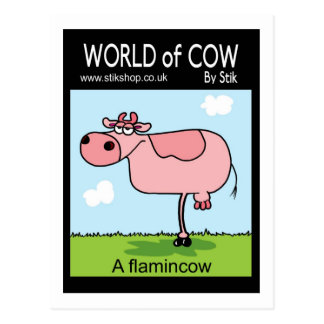 Flamincow Postcard