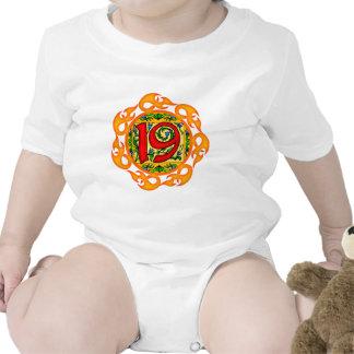 Flaming 19th Birthday Gifts Tshirt