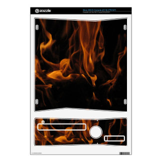 Flaming 360 skin for the xbox 360 s