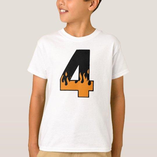 Flaming 4 Birthday T-shirt