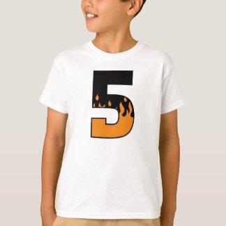 Flaming 5 Birthday T-shirt