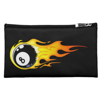 Flaming 8-Ball 2 Cosmetic Bag