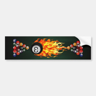 Flaming 8 Ball Bumper Sticker