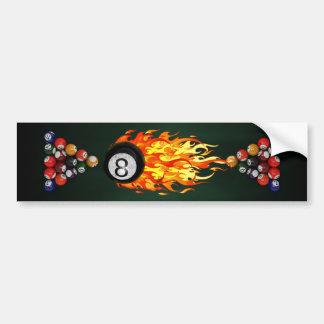 Flaming 8 Ball Bumper Sticker