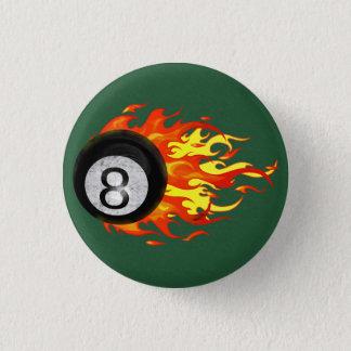 Flaming 8 Ball Button