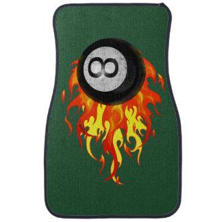 Flaming 8 Ball Car Mat