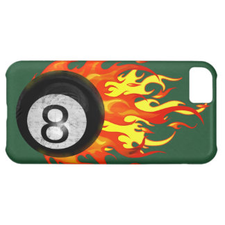 Flaming 8 Ball Case For iPhone 5C
