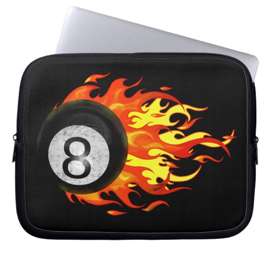 Flaming 8 Ball Computer Sleeve