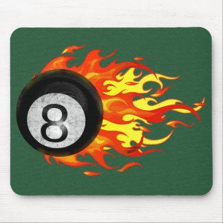 Flaming 8 Ball Mouse Pad