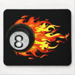 Flaming 8 Ball Mouse Pad