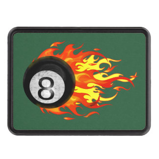 Flaming 8 Ball Hitch Covers