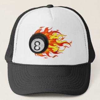 Flaming 8 Ball Trucker Hat