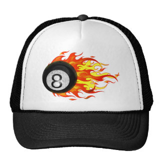 Flaming 8 Ball Trucker Hat