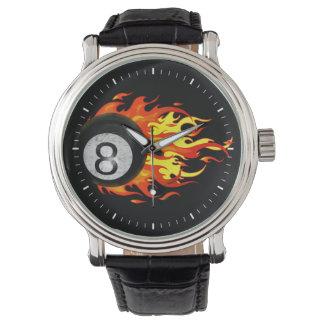 Flaming 8 Ball Wristwatch