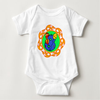 Flaming 8th Birthday Gifts Baby Bodysuit