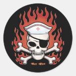 Flaming Arr Enn Sticker