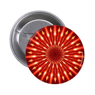 flaming arrows kaleidoscope pinback button