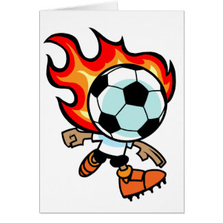 Flaming Ball Head Card