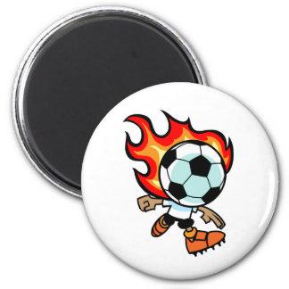 Flaming Ball Head Fridge Magnet