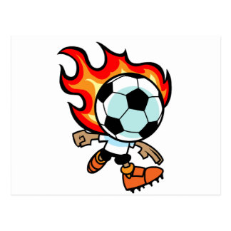 Flaming Ball Head Postcard