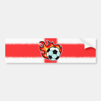 Flaming Ball St George Flag Bumper Sticker