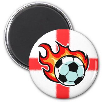 Flaming Ball St George Flag Magnet