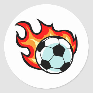 Flaming Ball Union Jack Classic Round Sticker