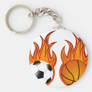 flaming-balls key chain