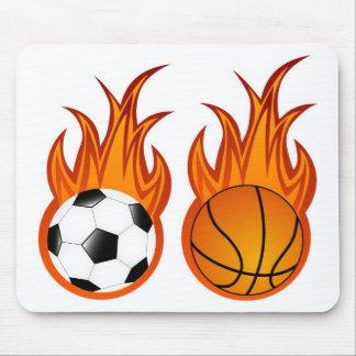 flaming-balls mouse pad