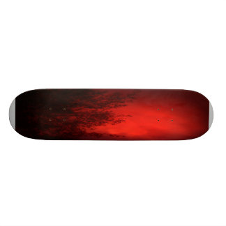 Flaming Bamboo Skateboard