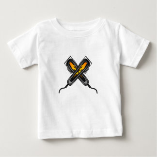 Flaming Barber Hair Clippers Baby T-Shirt