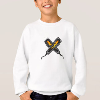 Flaming Barber Hair Clippers Sweatshirt