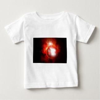 Flaming Baseball Baby T-Shirt