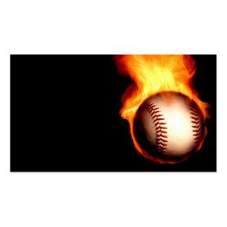 Flaming Baseball Business Card