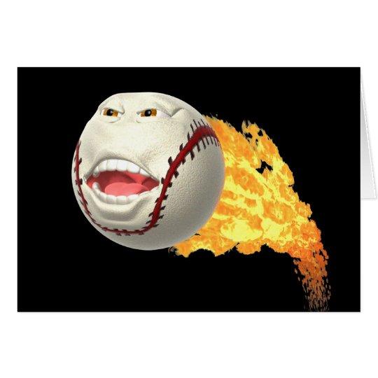 Flaming Baseball Card