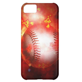 Flaming Baseball Case For iPhone 5C