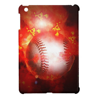 Flaming Baseball iPad Mini Cover