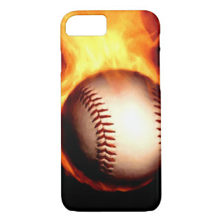 Flaming Baseball iPhone 7 Case