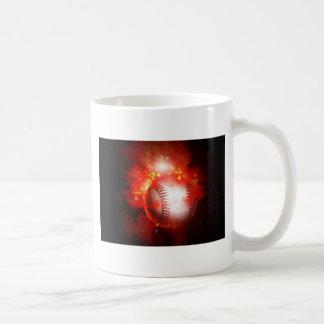 Flaming Baseball Coffee Mug
