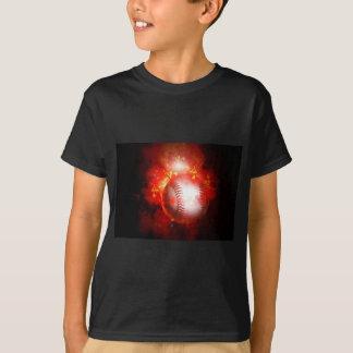 Flaming Baseball T-Shirt