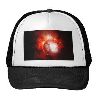 Flaming Baseball Trucker Hat