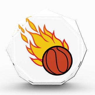 Flaming Basketball Appliqué Acrylic Award